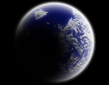 photoshop 惑星 地球