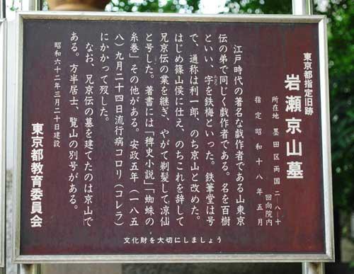 岩瀬京山墓