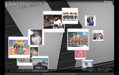 IE9 Trendline Yahoo!Japan