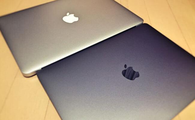 macbookair2012 macbookpro2016 並べてみた