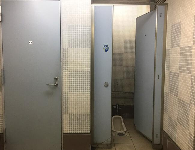 日本橋浜町公園 公衆便所 男性トイレ和式