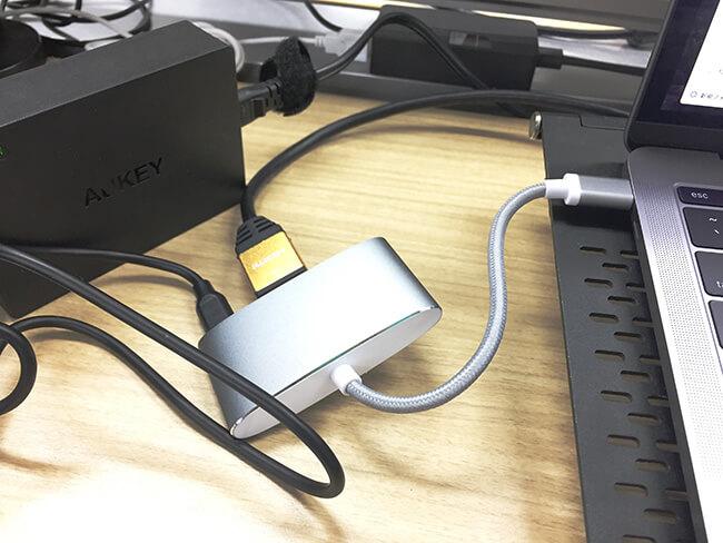 AUKEY PA-Y6|Lumsing|MacBookPro 接続