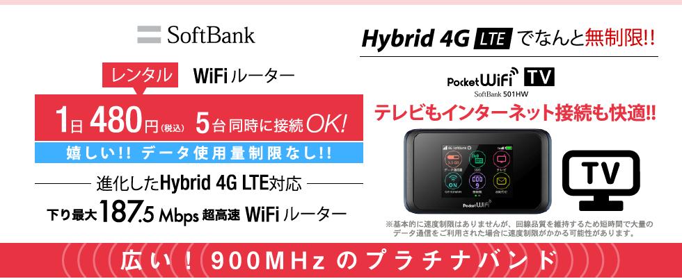 SoftBank 501HW レンタル