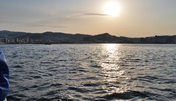 石狩湾 夕陽